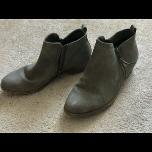 Grayish brown boots